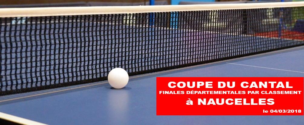 Coupe du cantal finales par classement tennis de table du pays de maurs - Classement individuel tennis de table ...